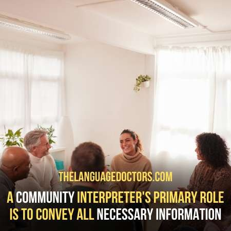 What is the role of a community interpreter to help foreign speakers