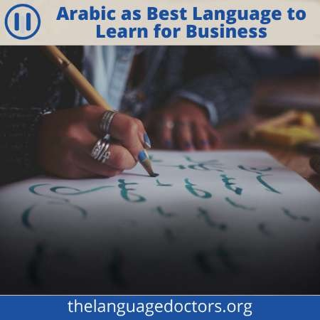 Arabic is the Entry to the Middle East-it will help you to do business in the Middle East.