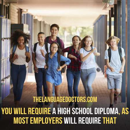 Earning a High School Diploma-for this level you should prepare yourself to be a court interpreter