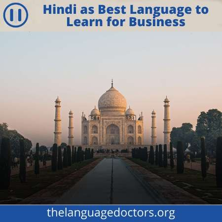 Hindi is the Entry of Indian Subcontinent-it will help you to do business in Hindi and Urdu speaking countries.