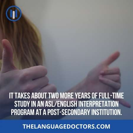 How long it takes to learn ASL English Interpretation Program-better to know this earlier