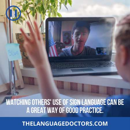 Take Sign Language Lessons Online-it will speed up your learning process