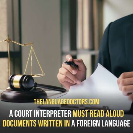 What Does a Court Interpreter Do-help a court participant to communicate with others