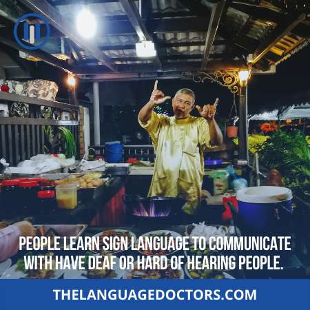 Who needs to take sign language classes-it is better to learn who need this course first