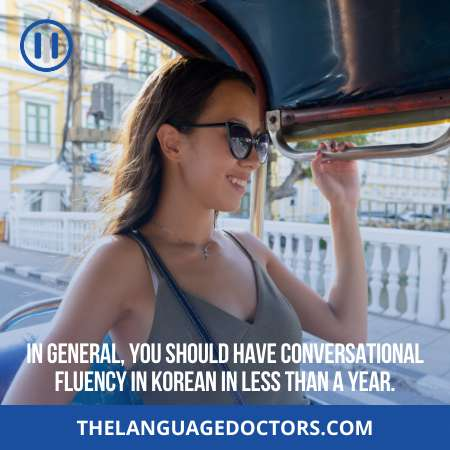 Conversational Fluency-take time to develop in any language