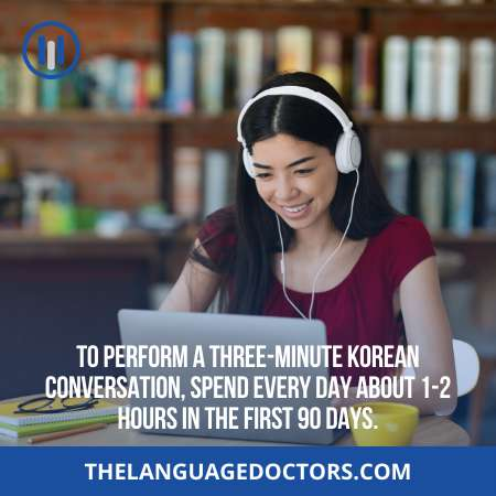 Have a Three Minute Korean conversation-Practice is the only way to get fluency