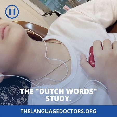 The Dutch Words study-is important to learn language while you sleep