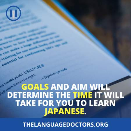 Your Goals For Learning The Japanese Language